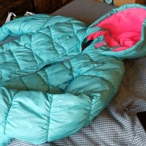 Blue and pink girls coat